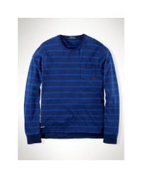 Polo Ralph Lauren - Blue Striped Cotton Jersey T-shirt for Men - Lyst