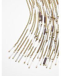 Free People | Metallic Chloe Long Beaded Fringe Necklace | Lyst