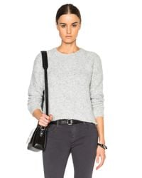 James Perse - Gray Boucle Cropped Sweater - Lyst