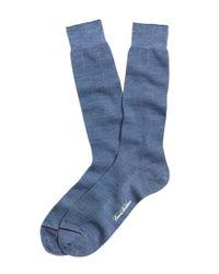 Brooks Brothers | Blue Textured Herringbone Crew Socks for Men | Lyst