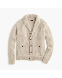 J.Crew - Natural Italian Wool Shawl-collar Cardigan Sweater for Men - Lyst