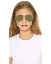 Acne Studios - Metallic Large Aviator Sunglasses - Palladium/silver Mirror - Lyst