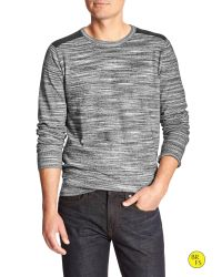 Banana Republic | Gray Factory Space-dyed Raglan Sweater for Men | Lyst