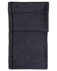 BOSS Green | Black 'scarf_fleece' | Wool Blend Fleece Scarf for Men | Lyst