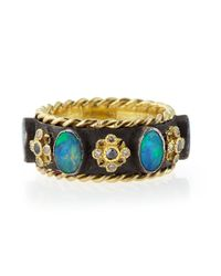 Armenta | Blue Old World Thick Stackable Band Ring With Opals & Diamonds for Men | Lyst