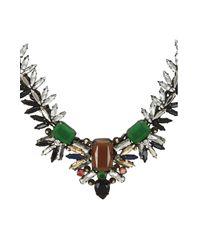 BCBGMAXAZRIA | Green Spiked Gemstone Necklace | Lyst