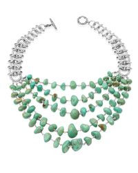 Stephen Dweck | Green Five-strand Turquoise Link Necklace | Lyst