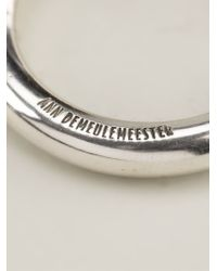 Ann Demeulemeester - Metallic Ring for Men - Lyst