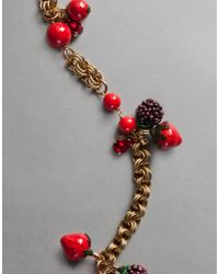 Dolce & Gabbana | Red Apple Necklace | Lyst