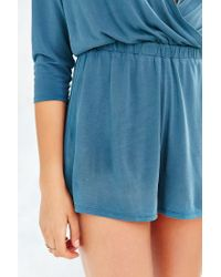 Silence + Noise - Blue Tangled Up Romper - Lyst