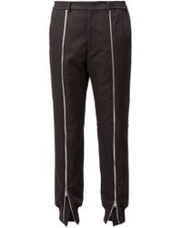 Juun.J - Black Zipped Trim Tapered Trousers for Men - Lyst