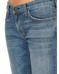 Current/Elliott - Blue Straight Cropped Low-Rise Jeans - Lyst