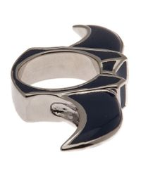 Dominic Jones | Blue Enameled Knuckle Ring | Lyst