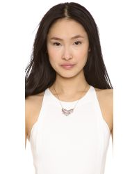 Alexis Bittar - Purple Crystal Framed Crescent Necklace - Lyst