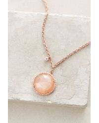 Indulgems | Pink Button Pendant Necklace | Lyst