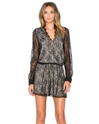 Alice + Olivia | Black Bailey Print Dress | Lyst
