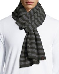 Original Penguin - Green Bailey Men's Striped Scarf for Men - Lyst