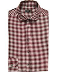Corneliani - Red Slim-fit Cotton Shirt for Men - Lyst
