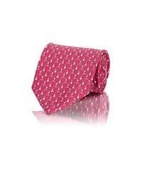 Ferragamo | Pink Men's Sailboat & Lighthouse Twill Necktie for Men | Lyst