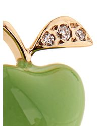 Alison Lou | Green Diamond, Enamel & Yellow-Gold Earring | Lyst