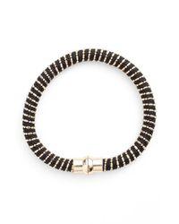 Nu Brand | Black Beaded Bracelet | Lyst