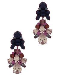 EK Thongprasert | Pink 2 Tier Drop Multi Jewel Earng | Lyst