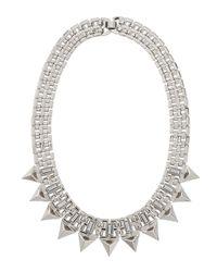R.j. Graziano - Metallic Baguette Spiked Bib Necklace - Lyst