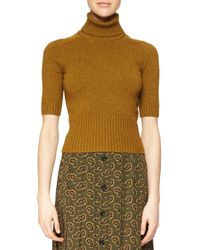 Michael Kors - Brown Half-sleeve Cashmere Sweater - Lyst