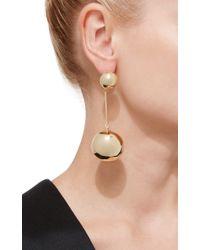 J.W.Anderson - Metallic Gold Sphere Drop Earrings - Lyst