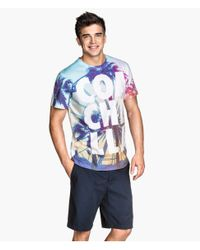 H&M - Multicolor T-Shirt With A Print for Men - Lyst
