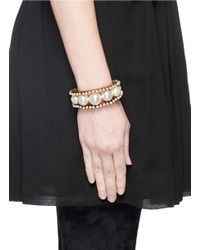 Erickson Beamon - White 'lady & The Tramp' Glass Pearl Cuff - Lyst
