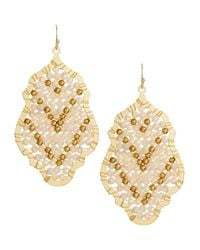 Nakamol - White Wire-Wrapped Crystal Pendant Earrings - Lyst