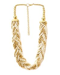 Forever 21 | Metallic Eclectic Braided Bead Necklace | Lyst