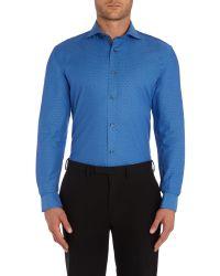 Ted Baker | Blue Dapto Polka Dot Slim Fit Formal Shirt for Men | Lyst