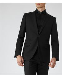 Reiss - Black Woods Slim-fit Dinner Shirt for Men - Lyst
