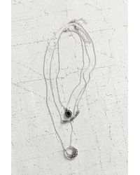 Urban Outfitters | Metallic Triple Threat Layering Necklace Set | Lyst