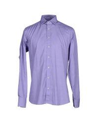 Etro - Purple Shirt - Lyst