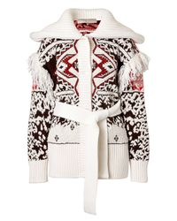 Emilio Pucci - Natural Tribal Printed Mohair-wool Cardigan - White - Lyst