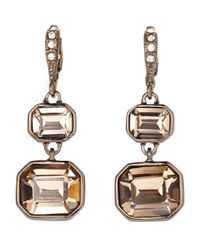 Givenchy - Metallic Double Drop Earrings - Lyst