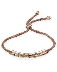 Monica Vinader - Pink Esencia Scatter Friendship Bracelet - Lyst