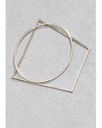 & Other Stories | Metallic Geometric Metal Bangles | Lyst