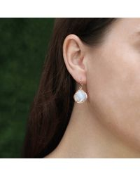 Irene Neuwirth | Pink Rose Cut Rainbow Moonstone Earrings | Lyst