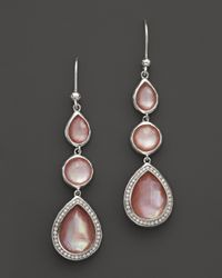 Ippolita | Sterling Silver Stella Drop Earrings In Pink Mother-Of Pearl With Diamonds | Lyst
