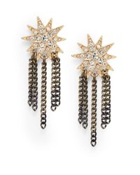 Saks Fifth Avenue - Metallic Starburst Chain-Tassel Earrings - Lyst