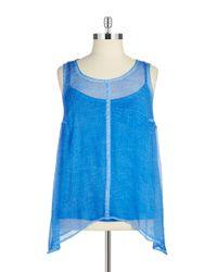 DKNY | Blue Plus Lace-back Tank | Lyst