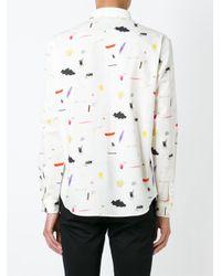 Carven - White Illustrative Print Shirt for Men - Lyst