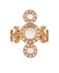 Sabine G - Metallic Trinita Diamond, Moonstone, Topaz & Gold Ring - Lyst
