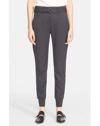 Vince - Gray Belted Rib Cuff Jogger Pants - Lyst