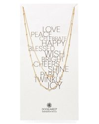 Dogeared | Metallic Beaded Two Chain Necklace | Lyst