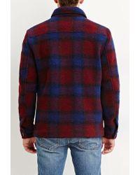 Forever 21 | Purple Tartan Plaid Wool-blend Jacket for Men | Lyst
